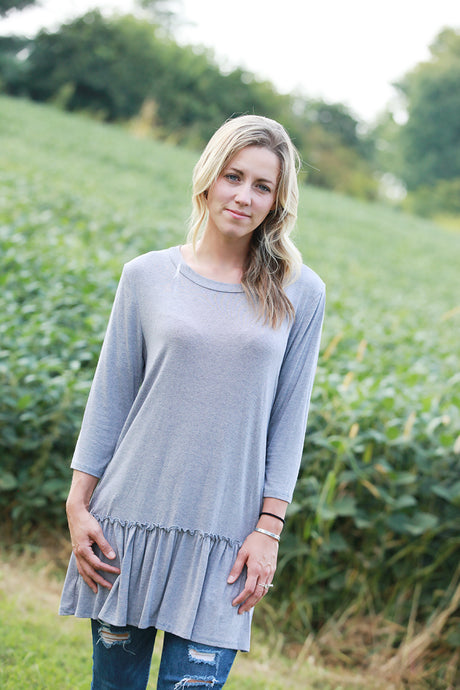 Mineral Wash Heather Blue Top