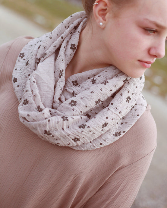 Whimsical Floral Infinity Scarf