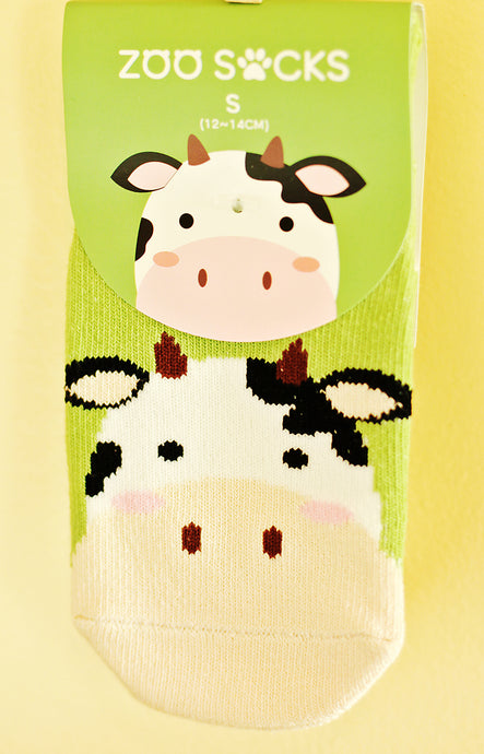 Cuddly Cow Zoo Socks
