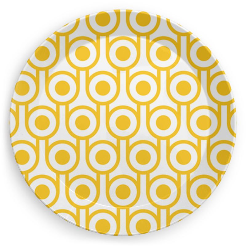 Plate in Yellow Eggs Print