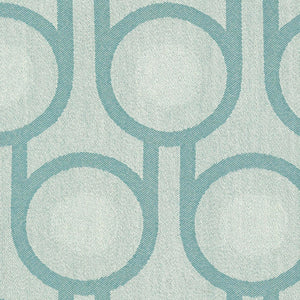 Woven Wool Fabric | Benedict Blue Large Repeat Pattern