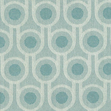 Benedict Blue Small Repeat woven wool fabric