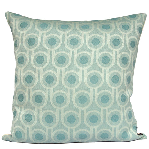 Woven Wool Cushion | Benedict Blue Small Repeat Pattern 45x45cm