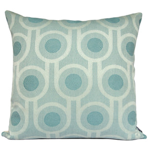 Benedict Blue Large Repeat square wool cushion 45x45cm