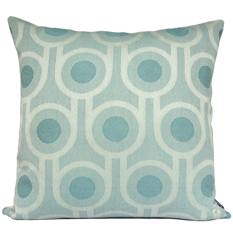 Woven Wool Cushion | Benedict Blue Large Repeat Pattern 45x45cm