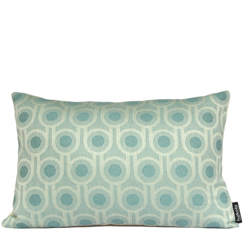 Woven Wool Cushion | Benedict Blue Small Repeat Pattern 45x30cm