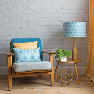 Woven Wool Cushion | Benedict Blue Large Repeat 45x30cm