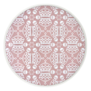 Melamine Round Placemat in Pink Jubilee Crown Orb Print
