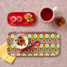 Birch Plywood Serving Tray in Eggs Tomatoes Print