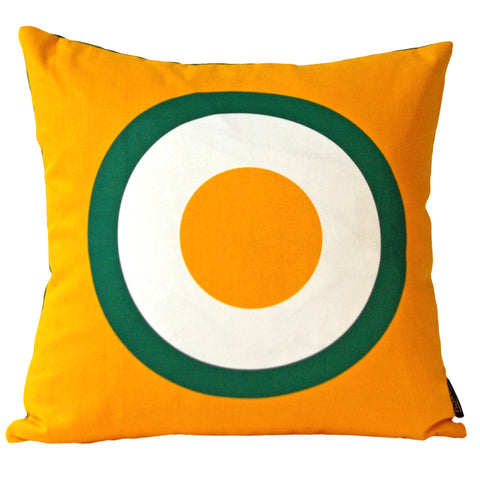 Printed Cotton Cushion Cover in Yellow Egg Print