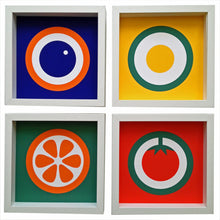 hokolo giclee art print set of 4 english breakfast inspired design