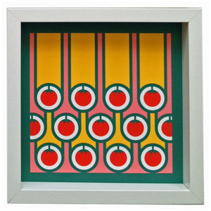 hokolo giclee art print tomatoes stripes
