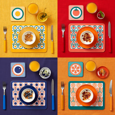 hokolo Melamine Placemat Coaster Set of 4