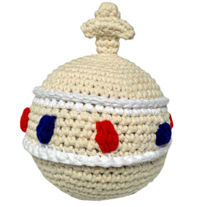 Cotton Crochet Royal Sovereign Orb Baby Rattle