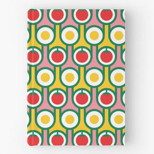 Hardback Notebook in Eggs Tomatoes Print