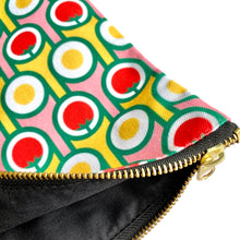 Zipper Pouch in Eggs Tomatoes Print