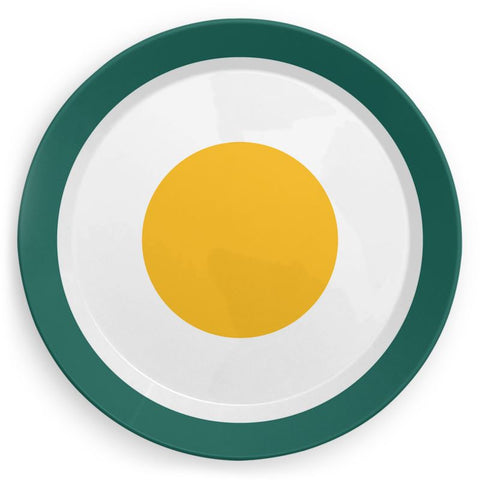 Plate in Yellow Egg Print