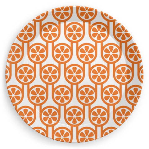 Plate in Oranges Print