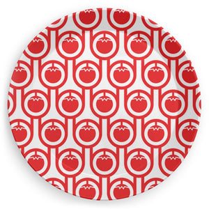 Plate in Red Tomatoes Print