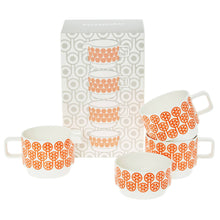 Ceramics Fine Bone China Stacking Tea Set in English Breakfast Pattern