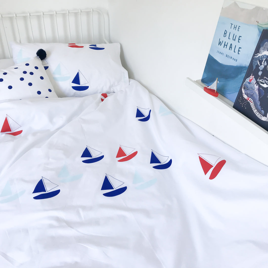 BON VOYAGE Blue | Kids Nautical Duvet Set | Single Size