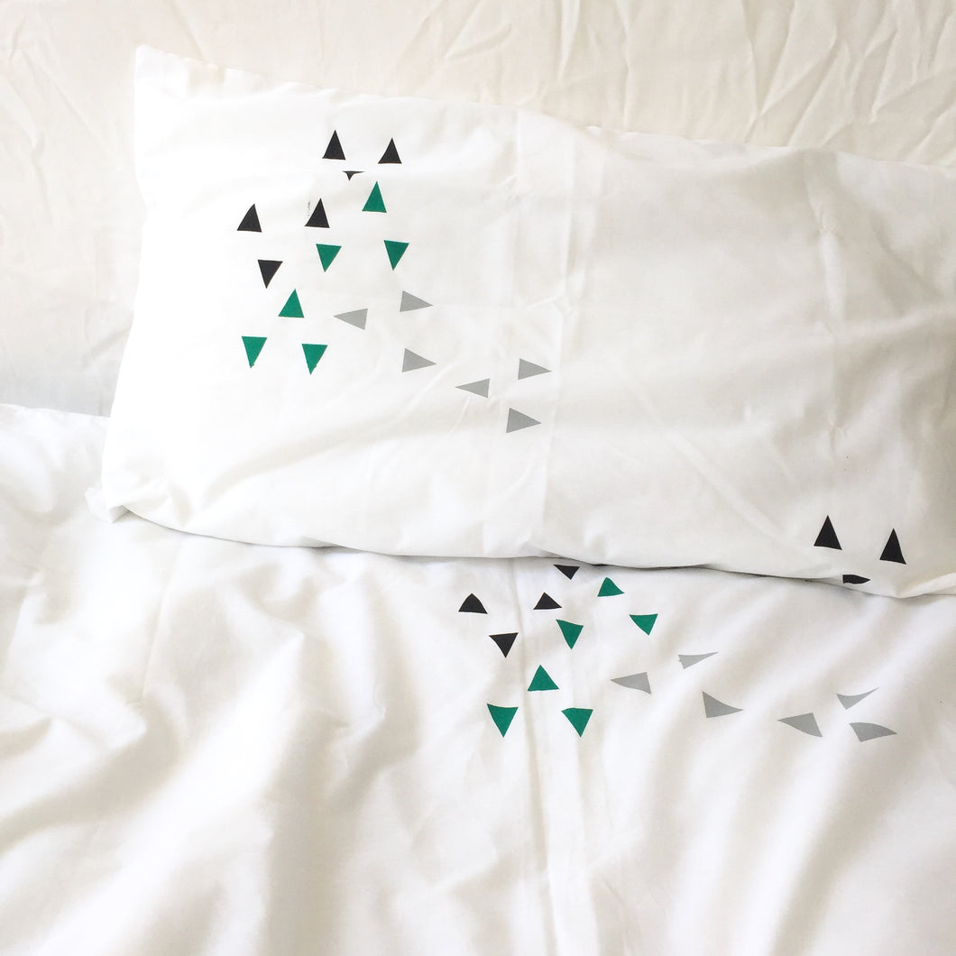 Pipsqueak APEX Duvet Set (green) 100% Cotton Percale