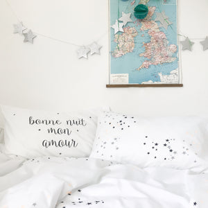BONNE NUIT MON AMOUR | Kids Pillow Case | Kids Bedding