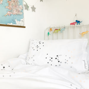 STARDUST Peach | Star Design Pillow Case | Kids Bedding