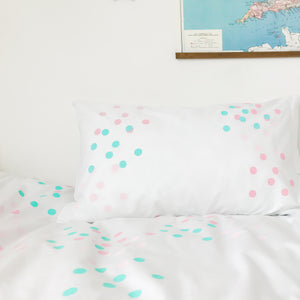 DOTTY ABOUT YOU Pink | Kids Spotty Design Pillow Case | Kids Bedding