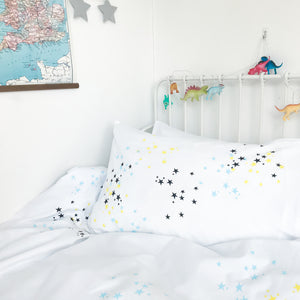 TWINKLE STAR Blue | Star Design Pillowcase | Kids Bedding