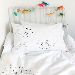 TWINKLE STAR Peach | Kids Star Design Duvet Set | Single Size