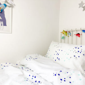 STARDUST Aqua | Children's Star Bedding Design | Cot Duvet Set
