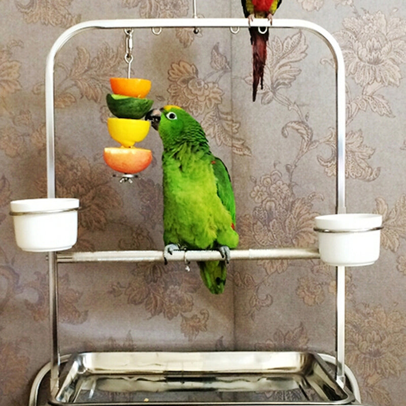High Quality 12cm Fruit Vegetable Holder Skewer for Bird Rabbit Hutch Cage Home Decor Pet Accessory Bird Nests Supplies Silver