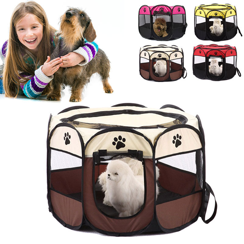 Hot New Portable Foldable Puppy Dog Pet Cat Rabbit Fabric Playpen Crate Cage Kennel Tent Pet Supplies Hogard MY1418