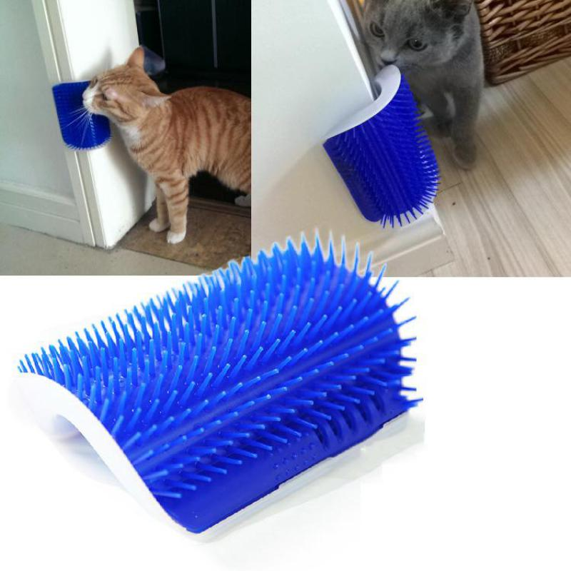 Hot Sale Pet Cats Supplies Cat Massage Comb Device Self Groomer with Catnip Pet Cat Toy For Cat Brush Comb