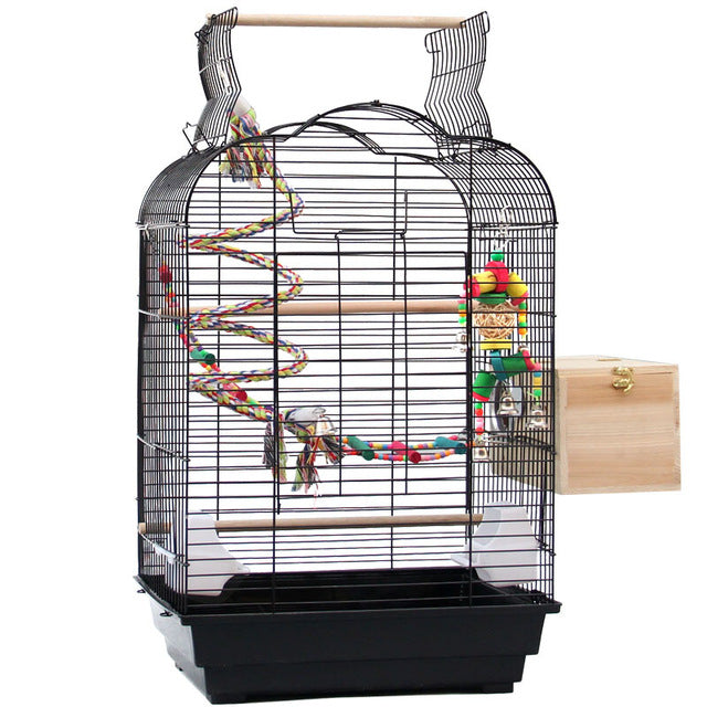 Decorative Bird Cage Style Cage Bird Parrot Toy Ladder Bird's Nest Iron Art Rugged Durable Large Space Medium-sized Bird Cage