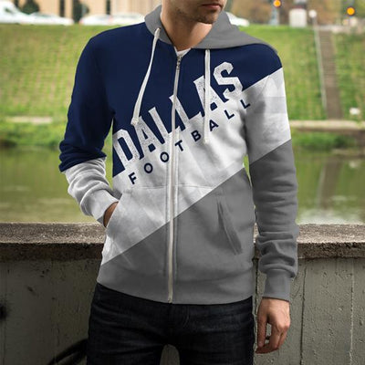 d254afbb11a Dallas Football Zip Up Hoodie - Swaggybux