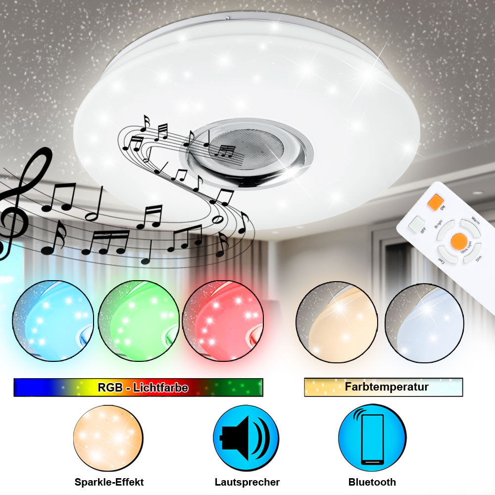LED plafondlamp Bluetooth MP3 luidspreker lamp