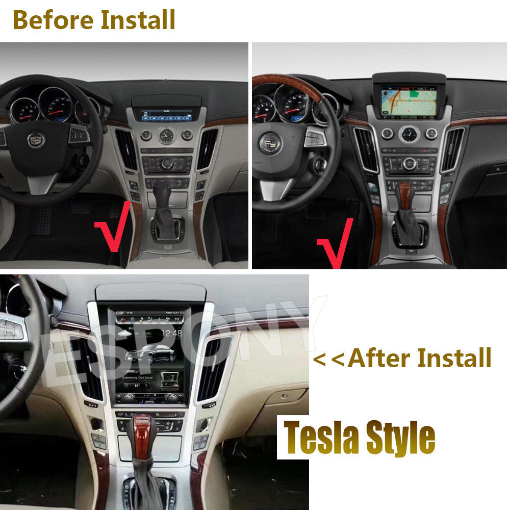104 Tesla Style Android Gps Navigation Radio For Cadillac Cts 2007 Wiring Harness 2012