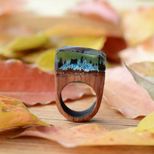 Forest - Handcrafted Wood Resin Rings