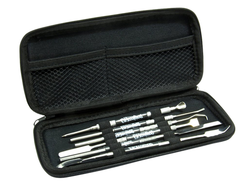 Master Kit of dabbers and dab tools case open
