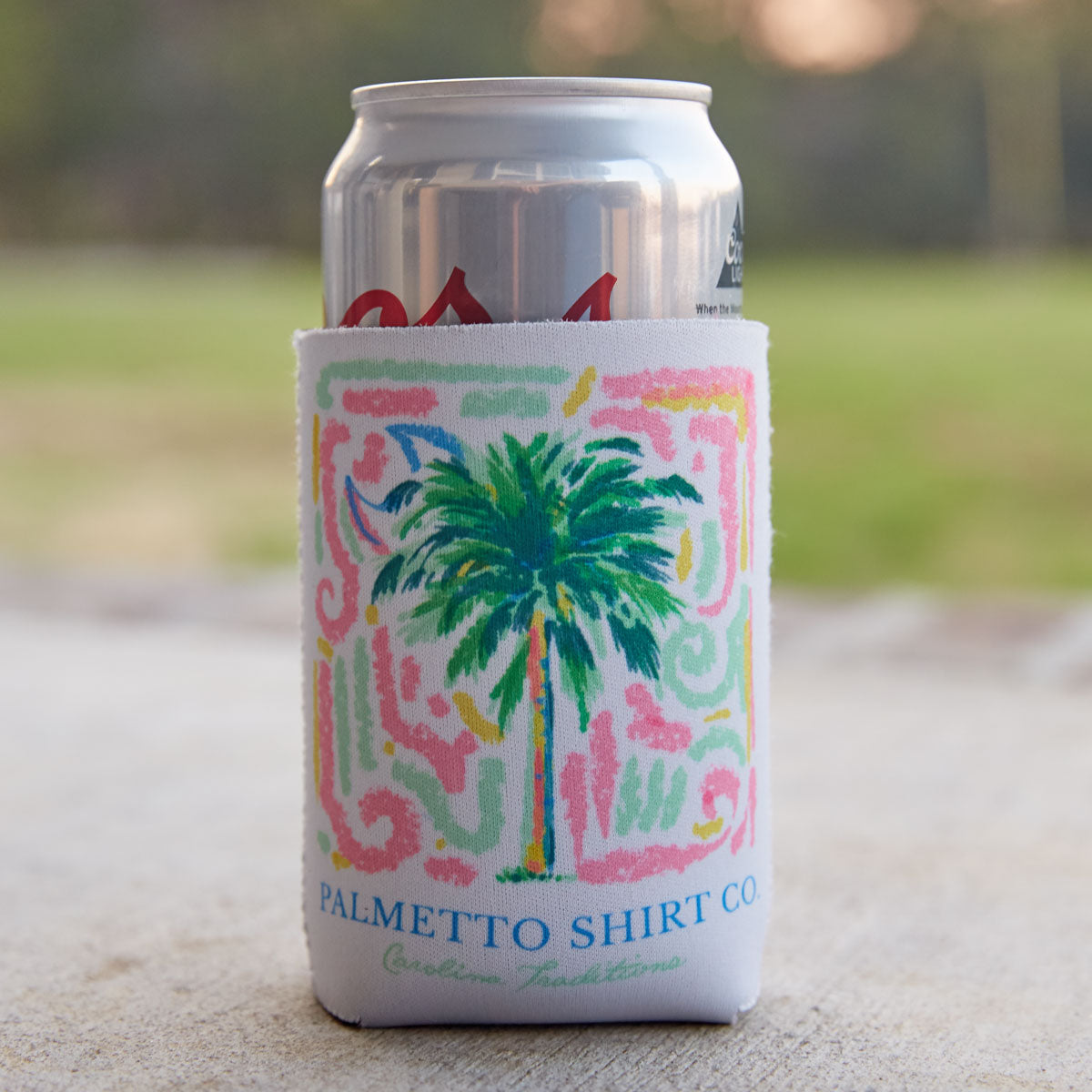 Palmetto Watercolor Reversible Koozie