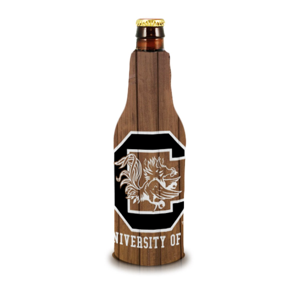 USC Wood Bottle Koozie