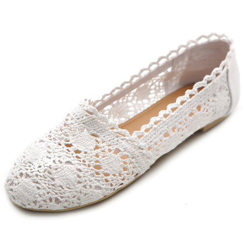 Ollio Womens Shoe Lace Ballet Breathable Flat 2/2