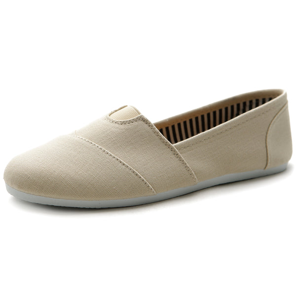 Ollio Women's Shoe Slip on Sneaker Canvas Flat