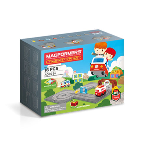 Magformers Town City Bus Set (16pcs)