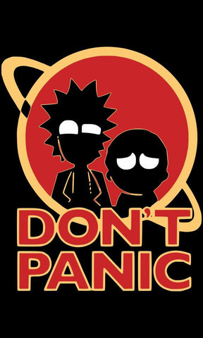 Rick and Morty Don't Panic T-Shirts