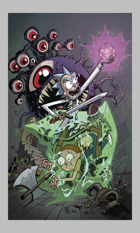 Rick n Morty Dungeons and Dragons T-Shirts