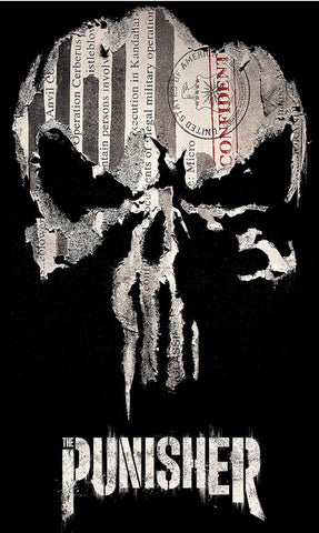 Punisher Skull Stamp T-Shirts