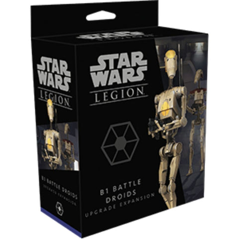 Star Wars Legion: B1 Battle Droids Upgrade Expansion The Separatist Alliance's B1 Battle Droids  Galactic Republic heavy weapons and personnel upgrade cards